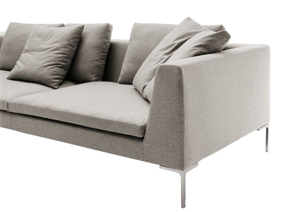 Three seater sofas sofa charles large by b b italia for B and b divani