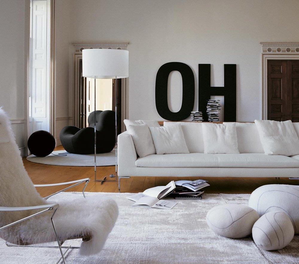 Three Seater Sofas Sofa Charles Large By BampB Italia