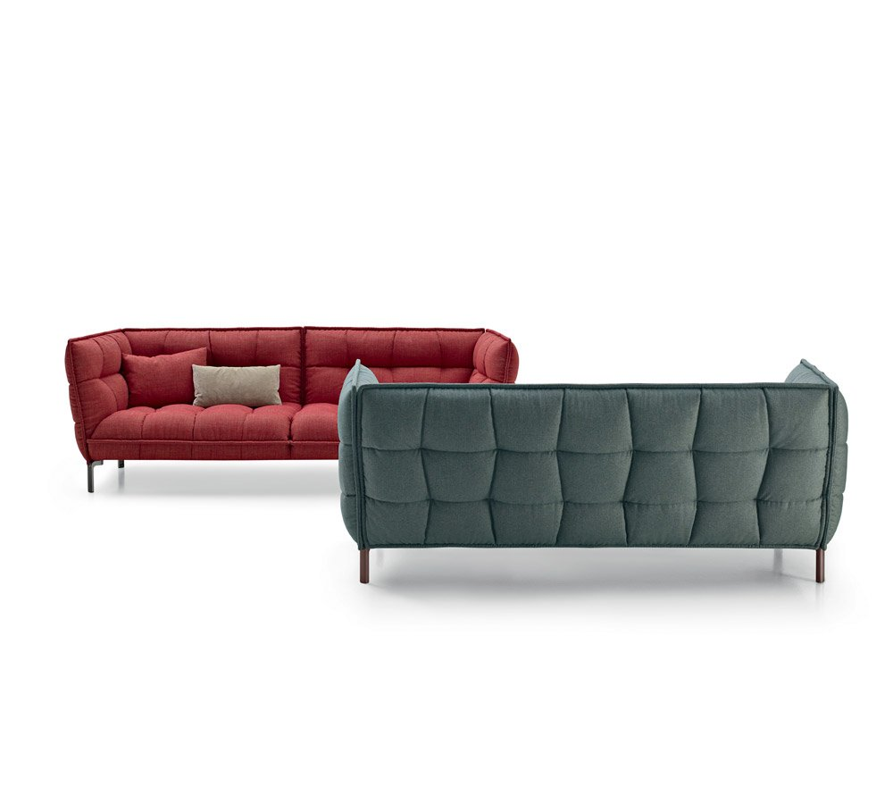 Divani tre posti divano husk sofa da b b italia for Divani b b