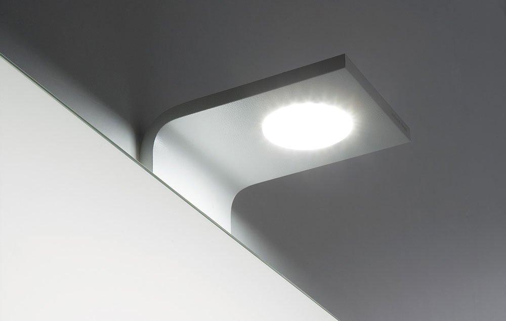 Illuminazione bagno lampada curva da antonio lupi - Illuminazione bagno design ...