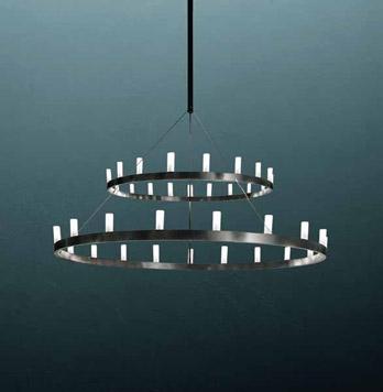 Lampe Chandelier Double