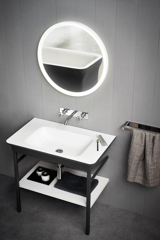 catalogue lavabo avec console novecento xl agape designbest. Black Bedroom Furniture Sets. Home Design Ideas