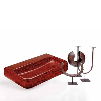 Washbasin Jungle Monty Red