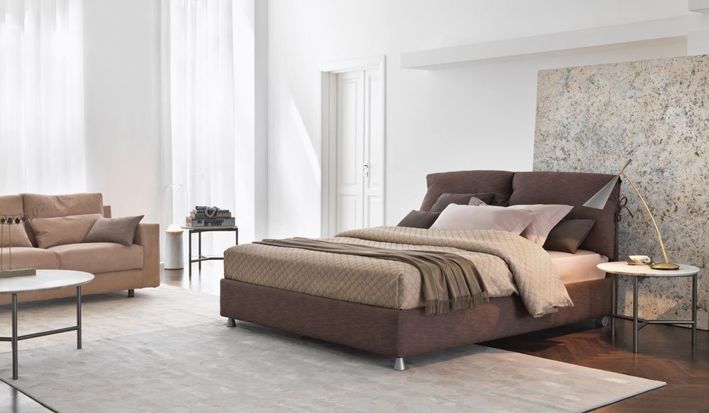 letti matrimoniali letto nathalie da flou. Black Bedroom Furniture Sets. Home Design Ideas