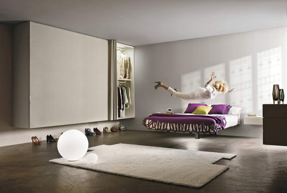 Double beds bed fluttua by lago for Lago furniture