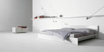 Bett L-bed