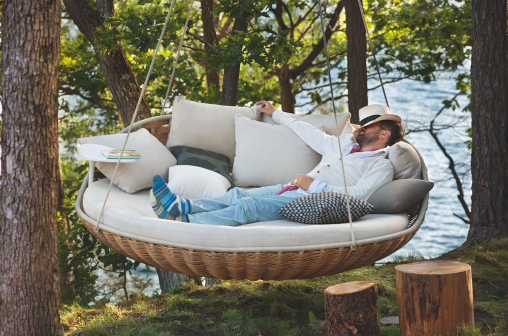 sonnenliegen und chaises longues h ngesessel swingrest von dedon. Black Bedroom Furniture Sets. Home Design Ideas