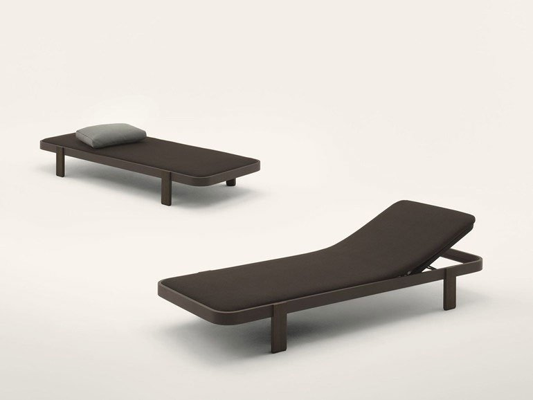 Sun beds and chaise longue chaise longue rams by paola lenti for Chaise longue canada