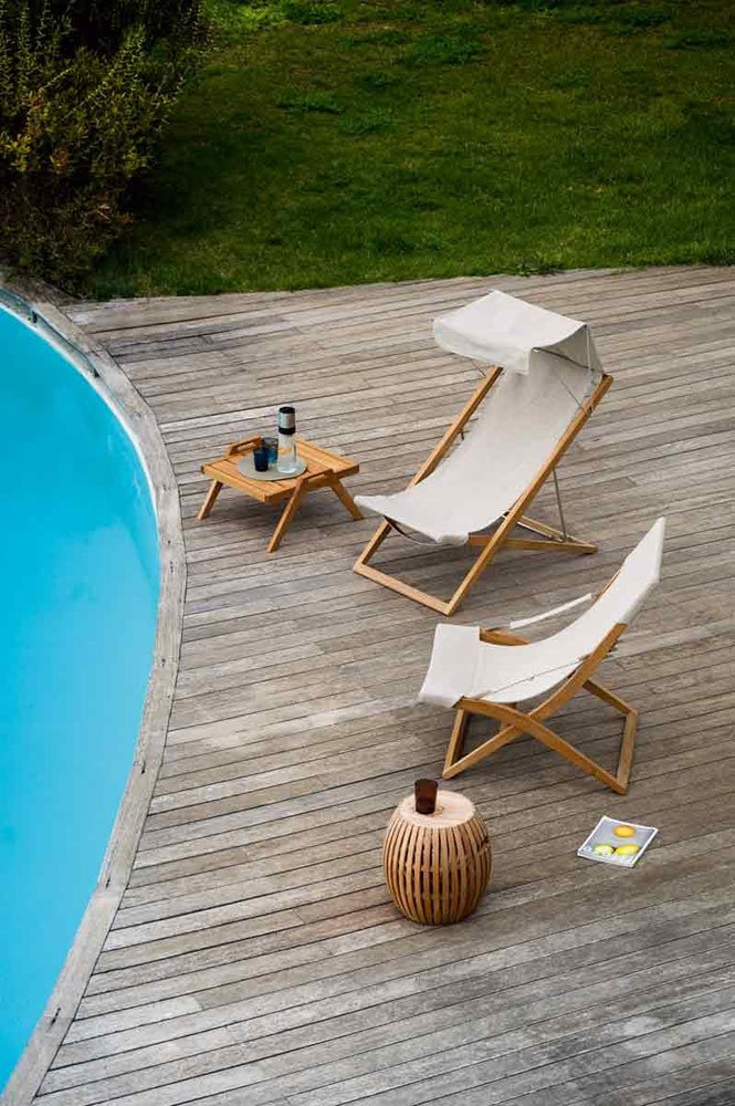 Sun beds and chaise longue beach chair cosette by unopi for Beach chaise longue