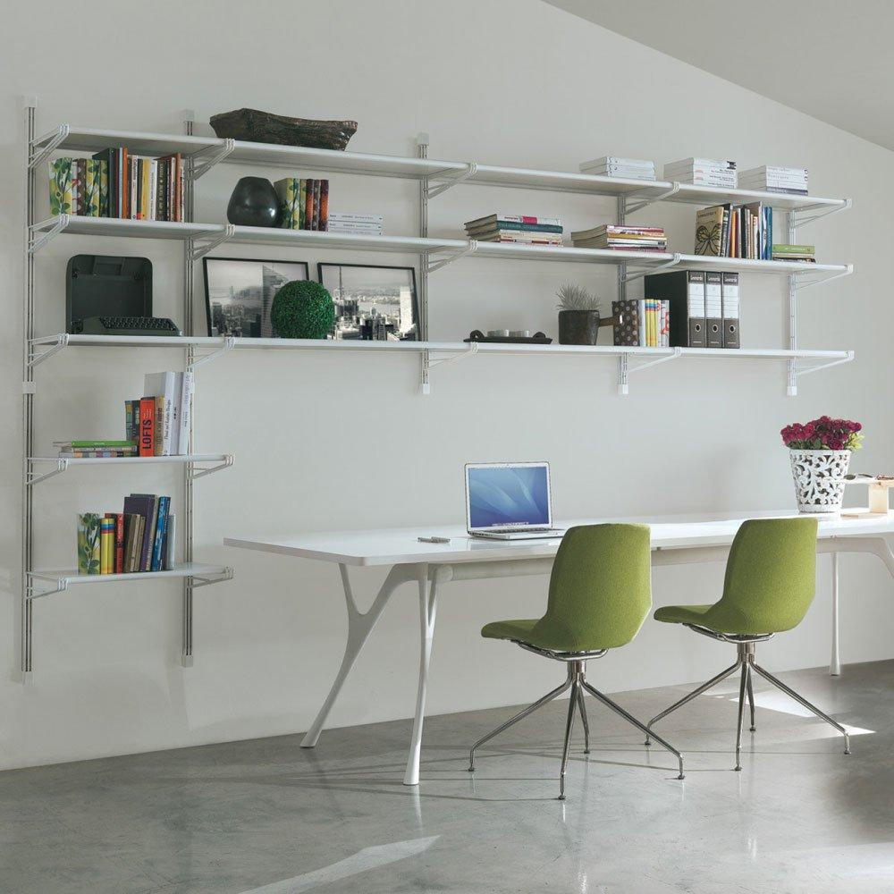 Librerie e scaffali libreria socrate parete b da caimi for Scaffali a parete