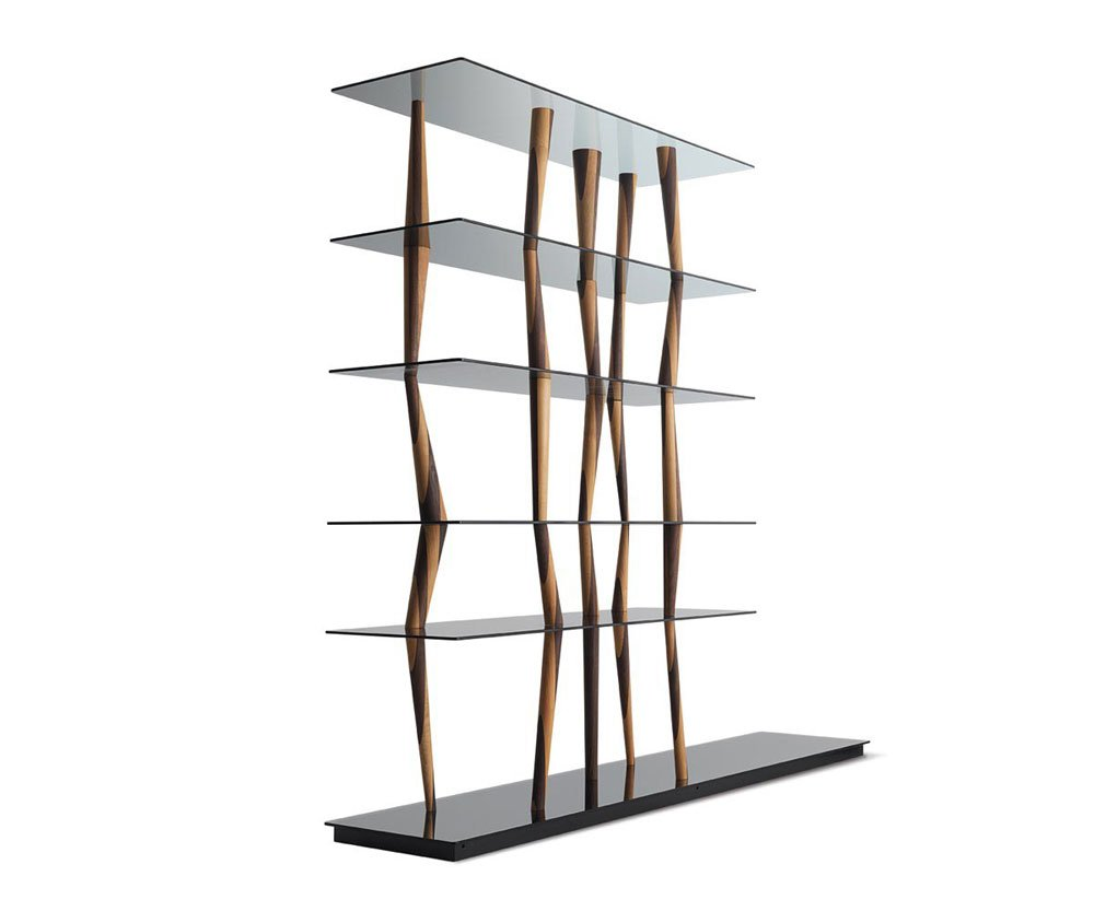 Bookcases and shelving units bookcase sendai crystal by horm