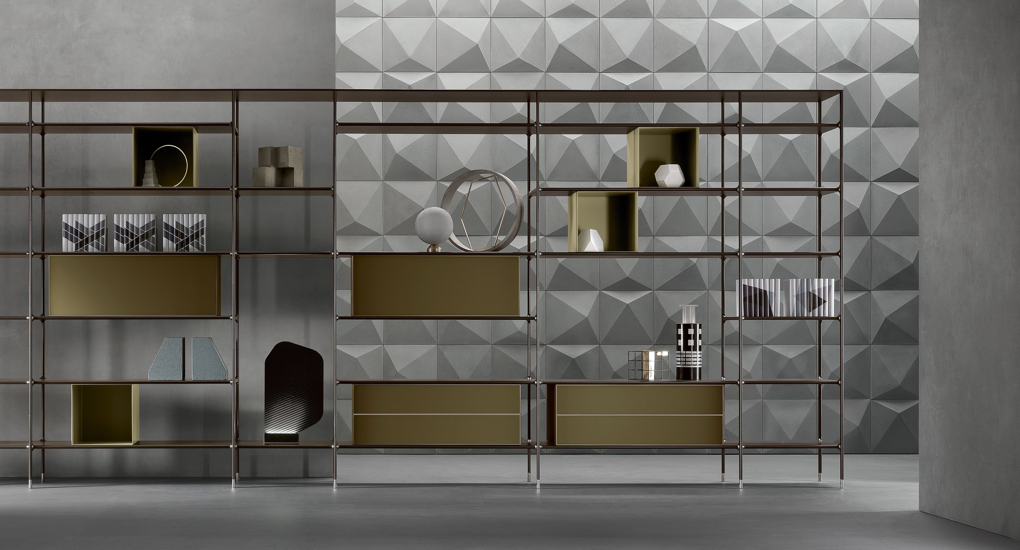 bookcases and shelving units bookcase wind a by rimadesio. Black Bedroom Furniture Sets. Home Design Ideas