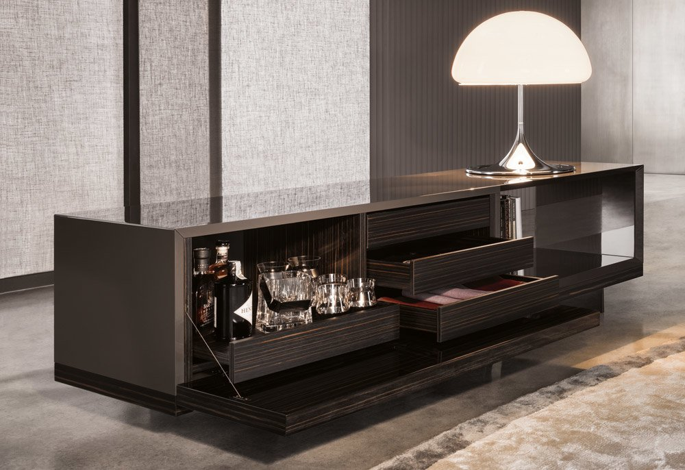 storage sideboard lang dining by minotti. Black Bedroom Furniture Sets. Home Design Ideas