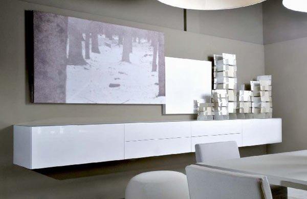 Mobili per soggiorno sospesi: mobili in legno per sala fadini mobili