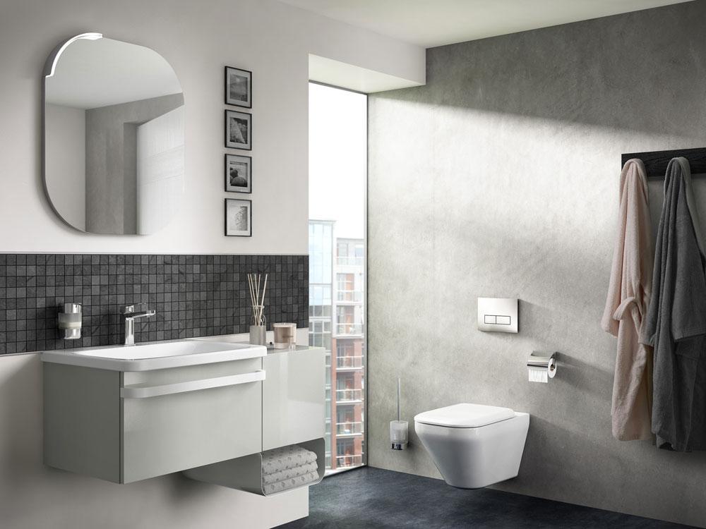 Mobili con lavabo composizione tonic ii da ideal standard for Arredo bagno valle d aosta