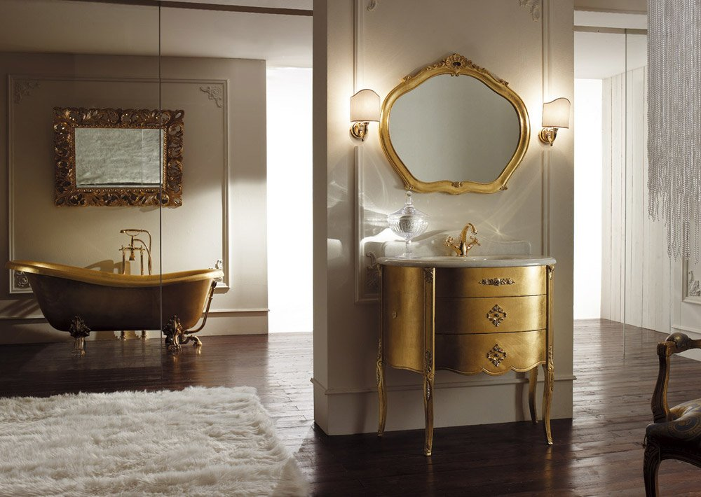 Mobili con lavabo composizione augustus da mobili di castello - Mobili di castello bagno ...