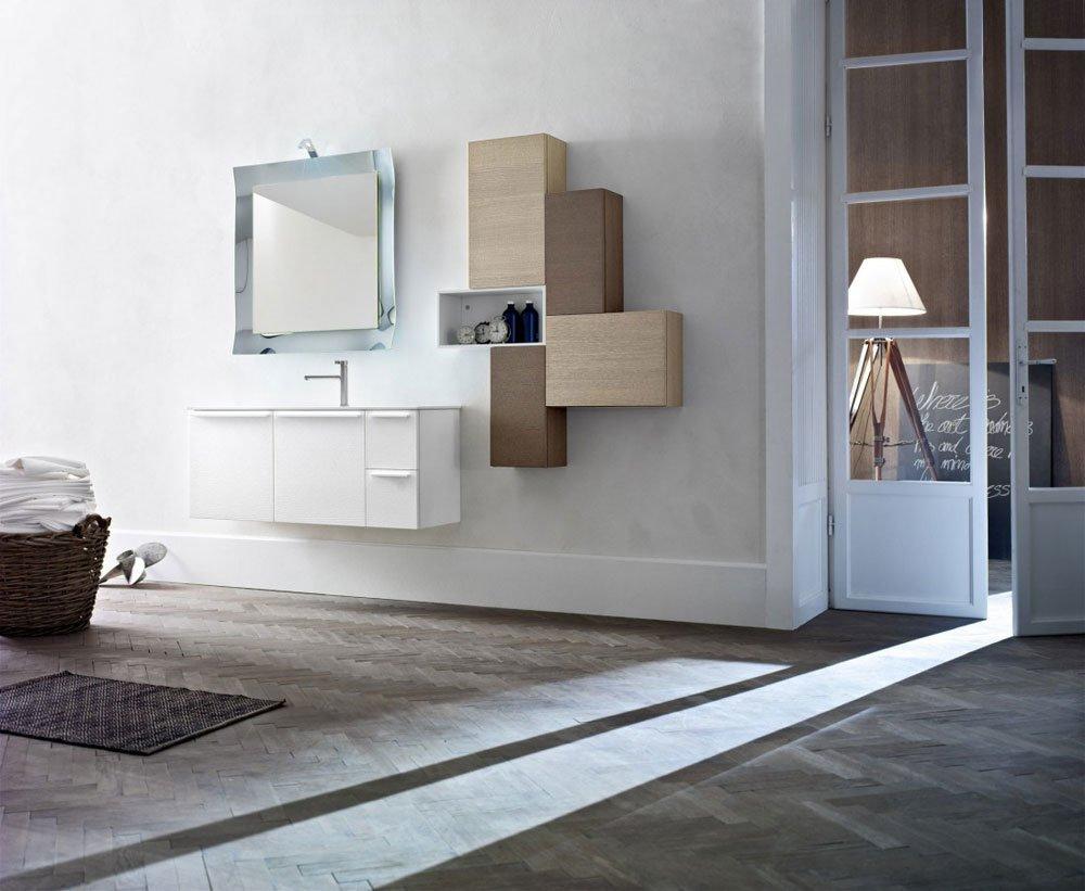 Mobiletto lavabo integrato per bagno da terra - Mobiletto per telefono ikea ...