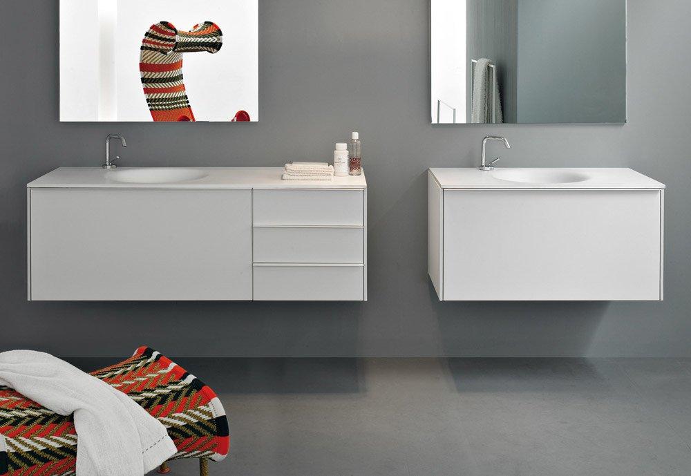 Mobili con lavabo composizione morphing unit b da kos for Kos arredo bagno