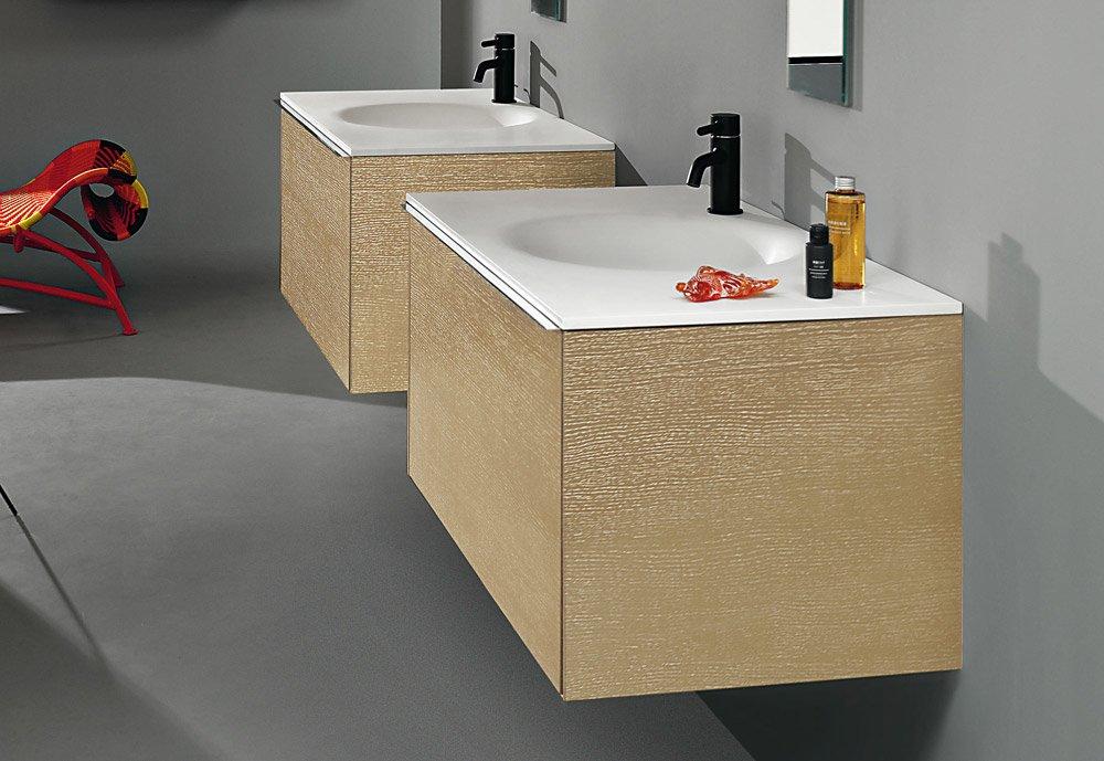 Mobili con lavabo composizione morphing unit a da kos for Kos arredo bagno