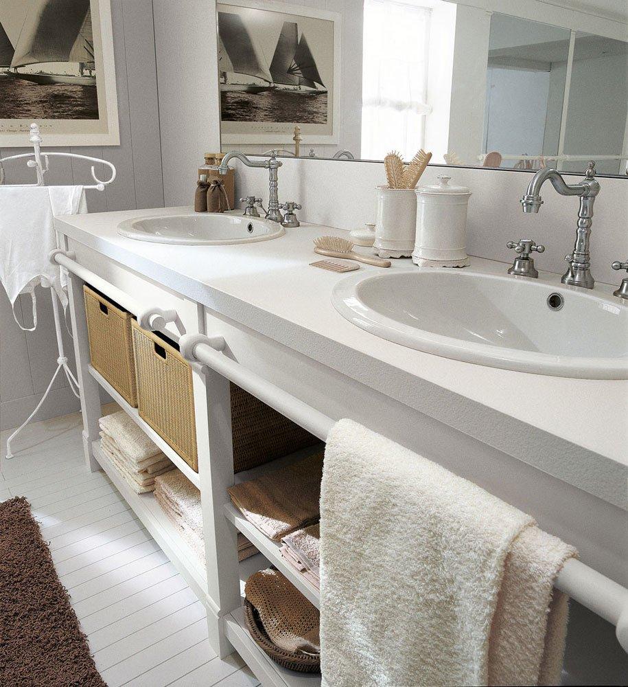 Mobili con lavabo composizione english mood a da minacciolo - Mobili bagno veneto ...