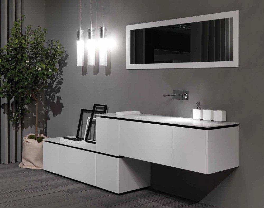 Mobili con lavabo composizione k forty a da rifra - Mobili bagno rifra ...