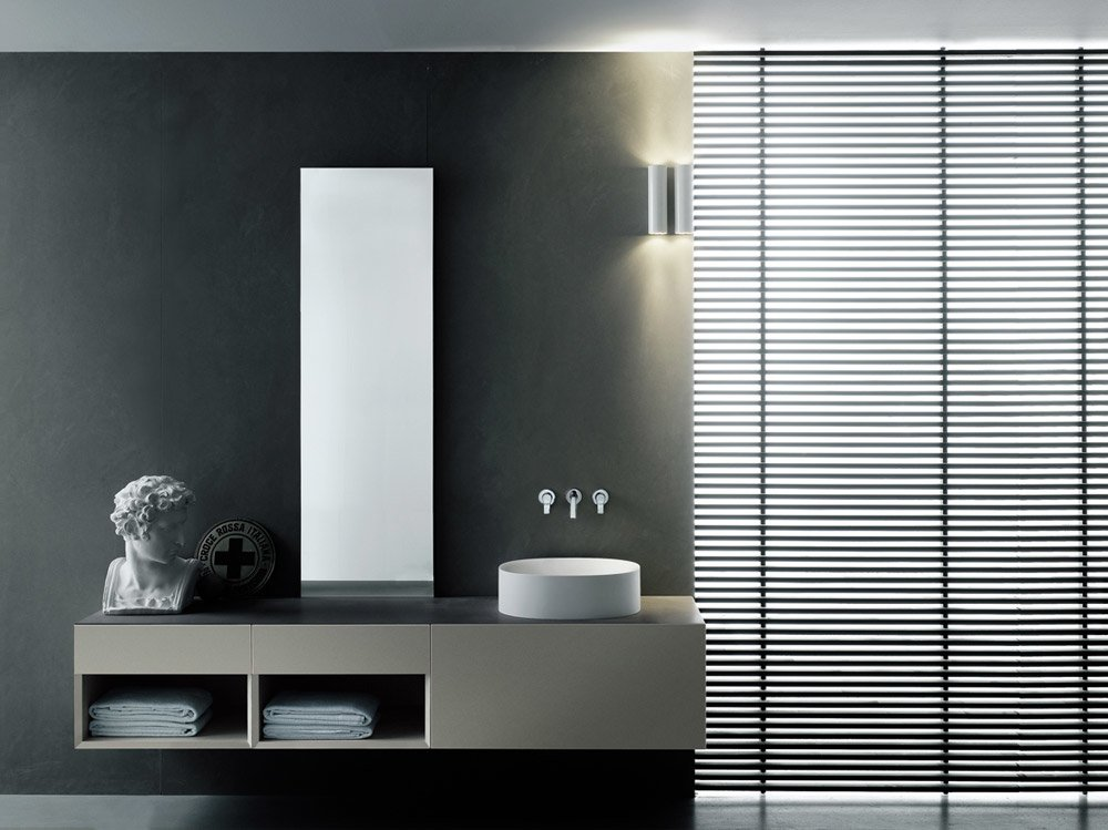 mobili con lavabo composizione i fiumi st da boffi bathrooms. Black Bedroom Furniture Sets. Home Design Ideas