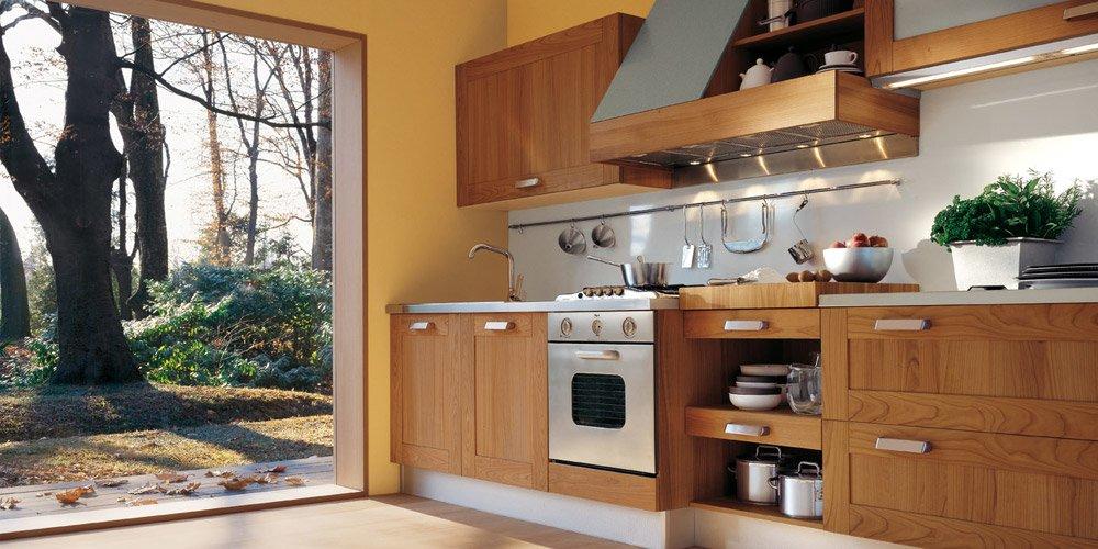 Mobili per cucina cucina naturasia a da ged cucine - Cucine moderne color ciliegio ...