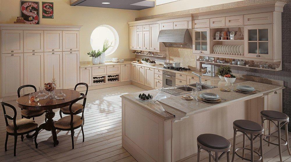 Idee Cucina Romantica : Per Cucina Bianca Con Bordini Blu Per Una ...