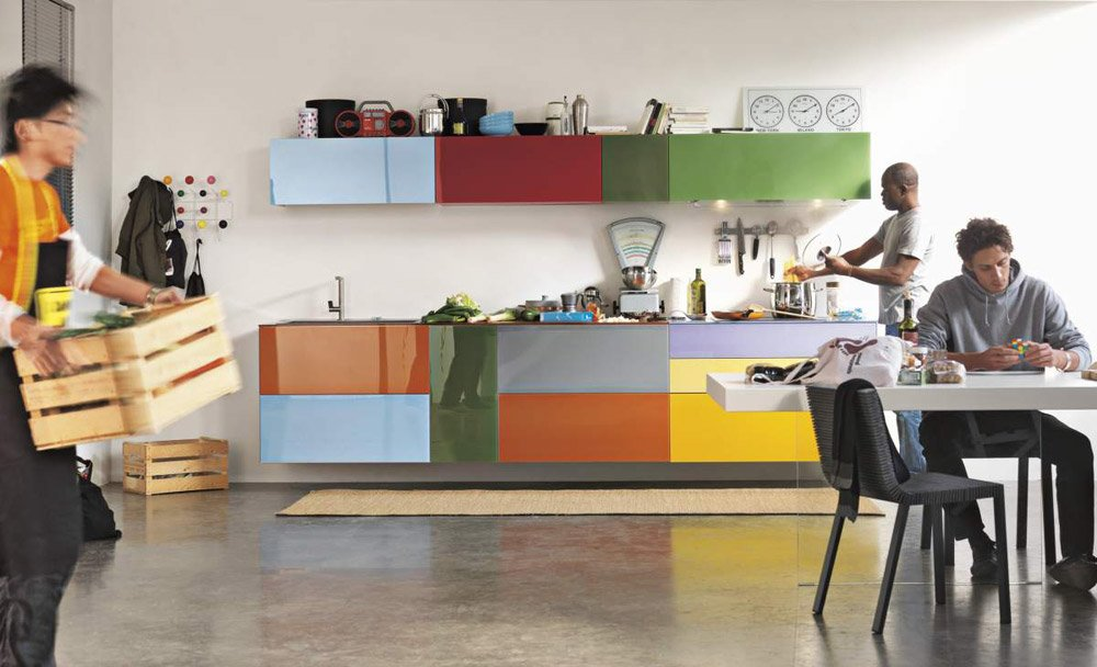 Modular kitchens: kitchen 36e8 comp.254 by lago