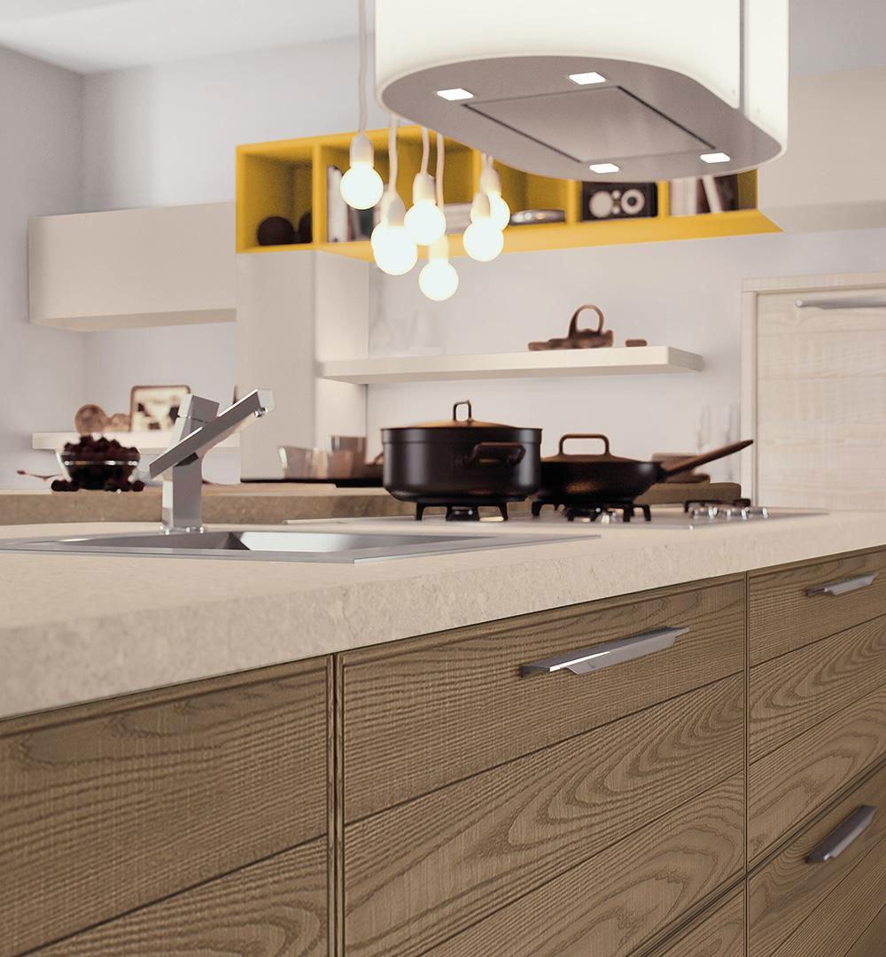 Mobili per cucina cucina adele b da lube cucine for Mobili per cucine