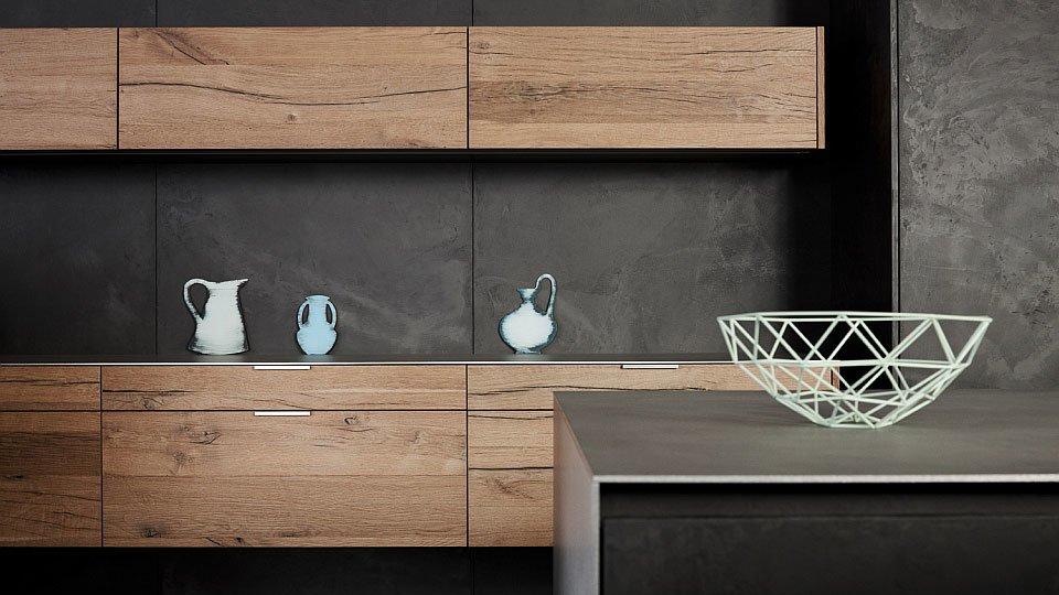 Eggersmann Küchenmöbel Küche Beton Altholz   Designbest