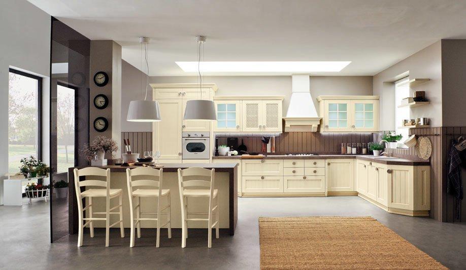 Mobili per cucina cucina mela da arrex 1 - Sgabelli in legno per cucina ...