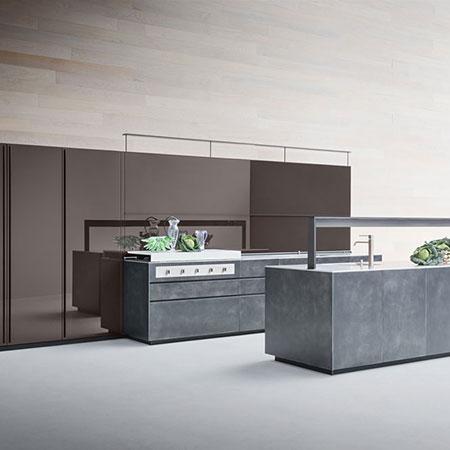 Kitchen Artematica Laccato Graffiato by Valcucine
