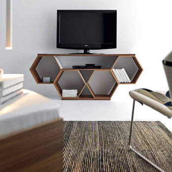 Porta tv Honeycomb