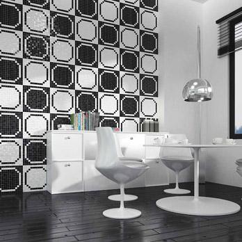 Mosaico Bianco e Nero - San Siro