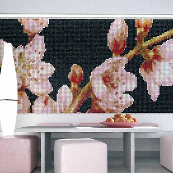 Mosaico Linee & Fiori - Pesco