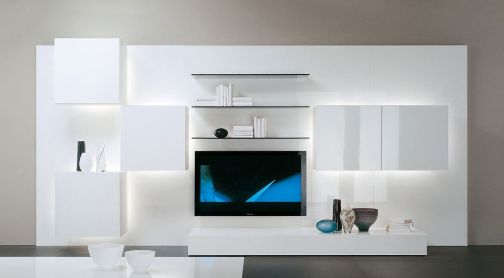 Pareti attrezzate composizione life b da acerbis - Acerbis mobili outlet ...