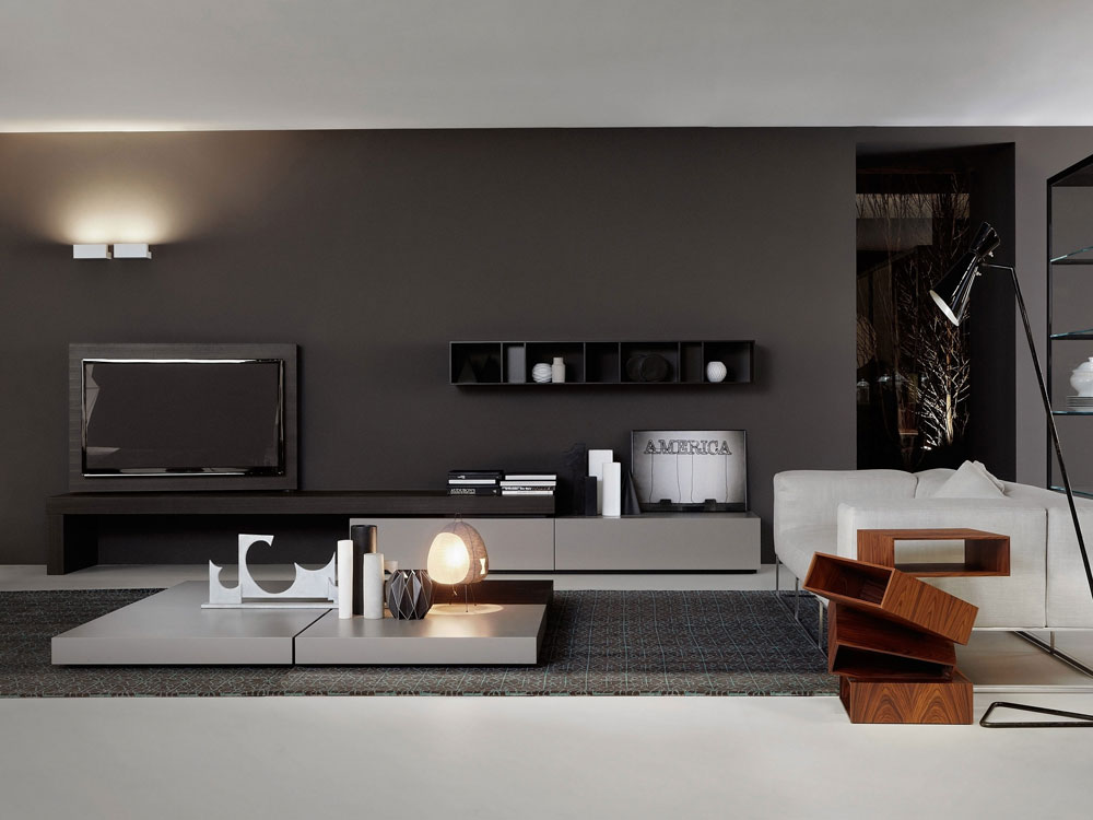 porro wohnw nde wohnwand modern designbest. Black Bedroom Furniture Sets. Home Design Ideas