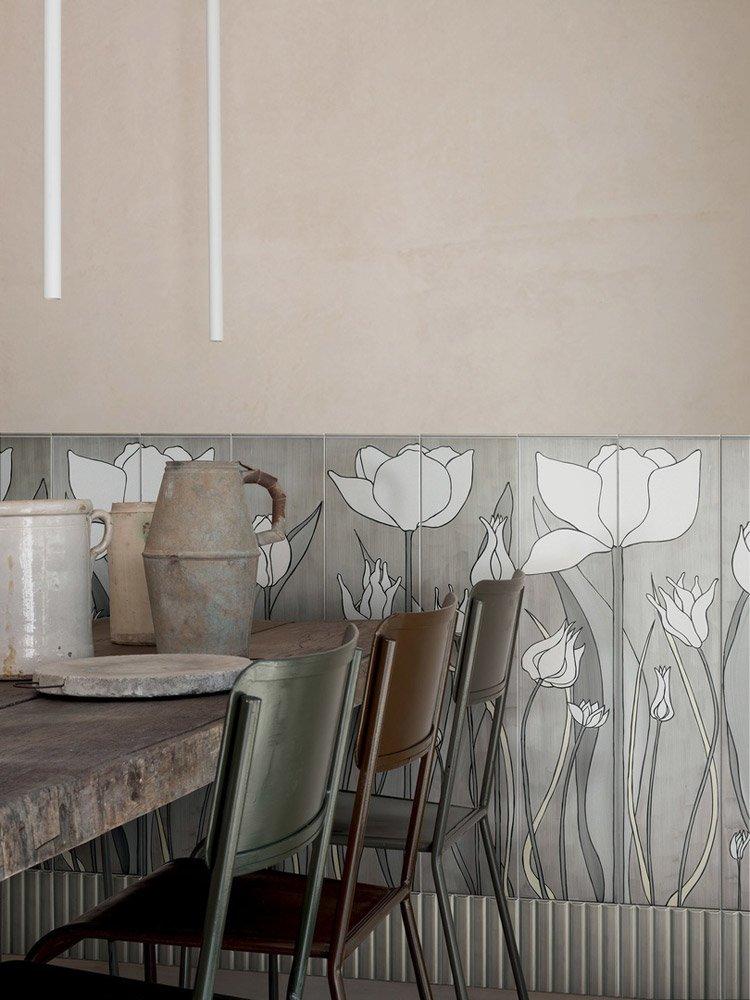Tiles Collection Tulipani By Ceramica Bardelli