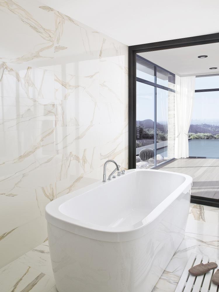 tiles series calacata by porcelanosa. Black Bedroom Furniture Sets. Home Design Ideas