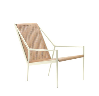 Small armchair Acciaio Lounge