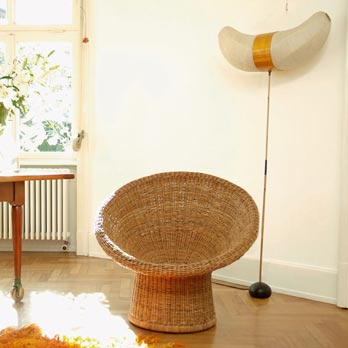 Kleiner Sessel Rattan E10