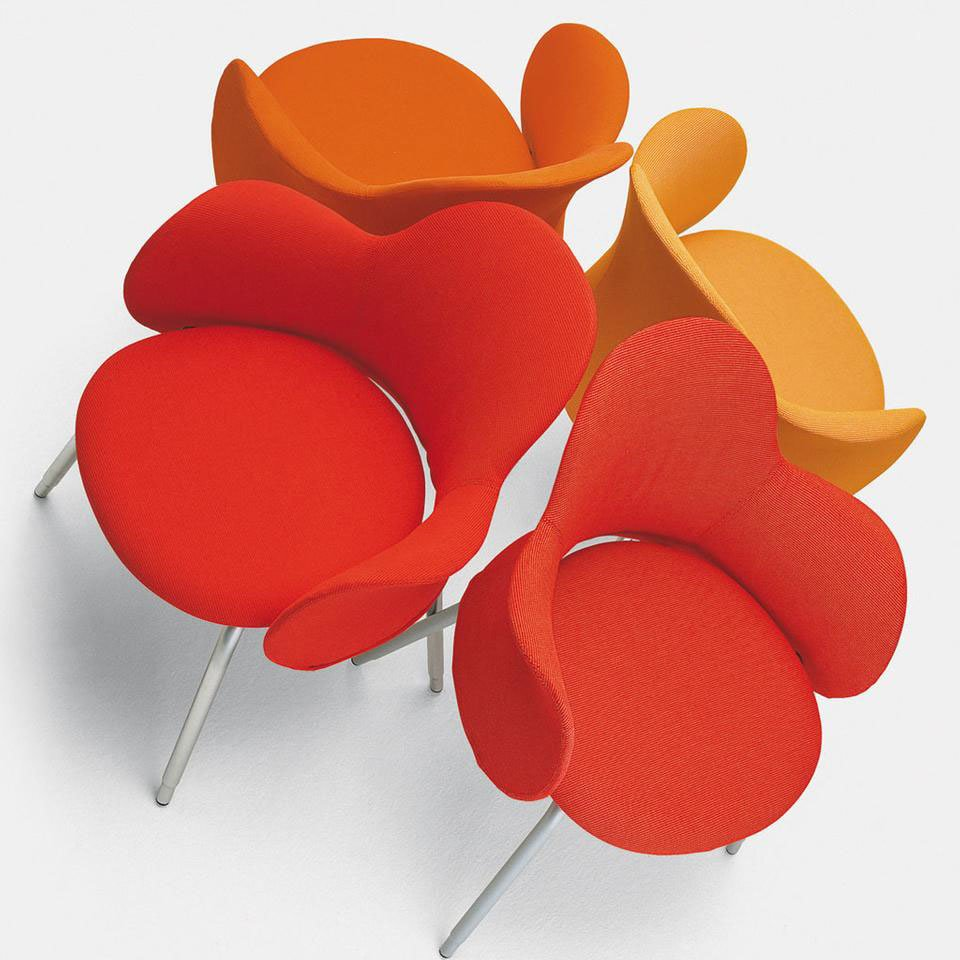 Small office armchairs armchair flower by de padova for Sedie design north america