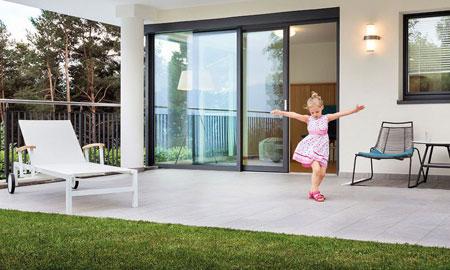 Porta finestra Alzante scorrevole in PVC-alluminio