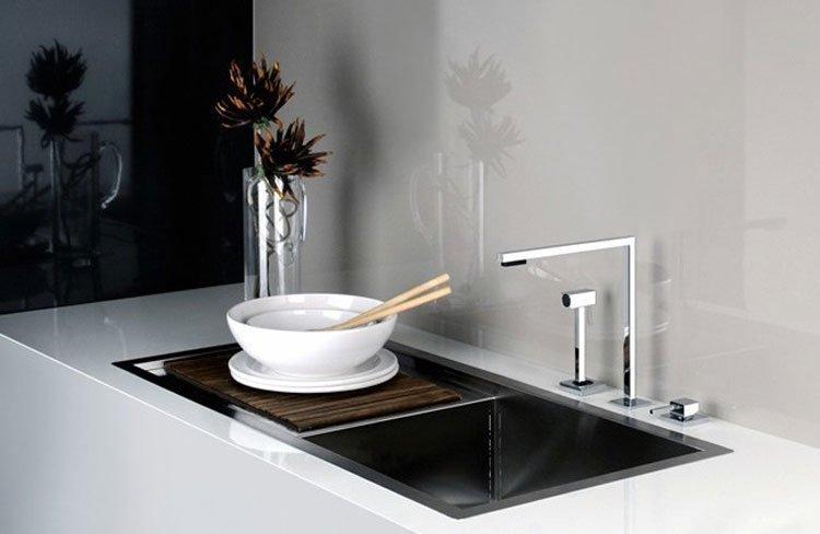 gessi armaturen f r die k che mischbatterie minimo designbest. Black Bedroom Furniture Sets. Home Design Ideas