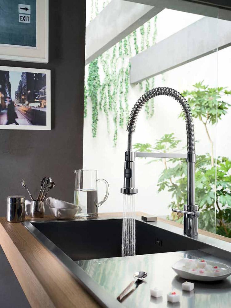 nobili armaturen f r die k che mischbatterie plus designbest. Black Bedroom Furniture Sets. Home Design Ideas