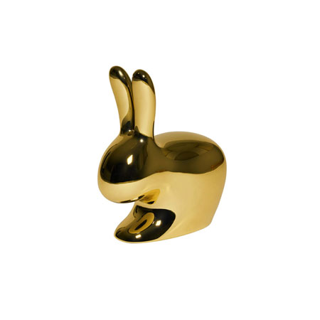Sedia Rabbit Chair Baby Metal Finish