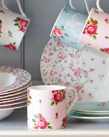 Set Mug New Country Rose