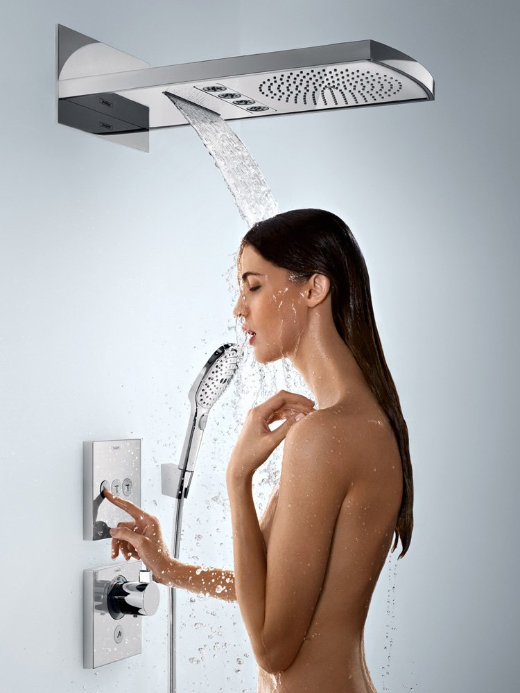 shower heads rainshower raindance rainfall 240 3jet by hansgrohe. Black Bedroom Furniture Sets. Home Design Ideas