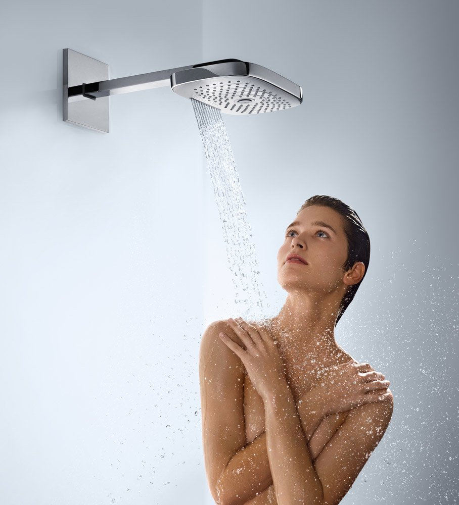 shower heads rainshower raindance select e 300 3jet by hansgrohe. Black Bedroom Furniture Sets. Home Design Ideas